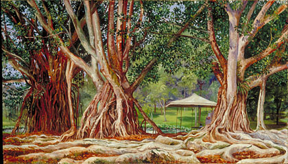 Kew: Marianne North Gallery: Painting 629: India-rubber