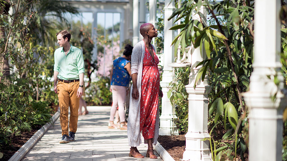 A couple explore the Temperate House