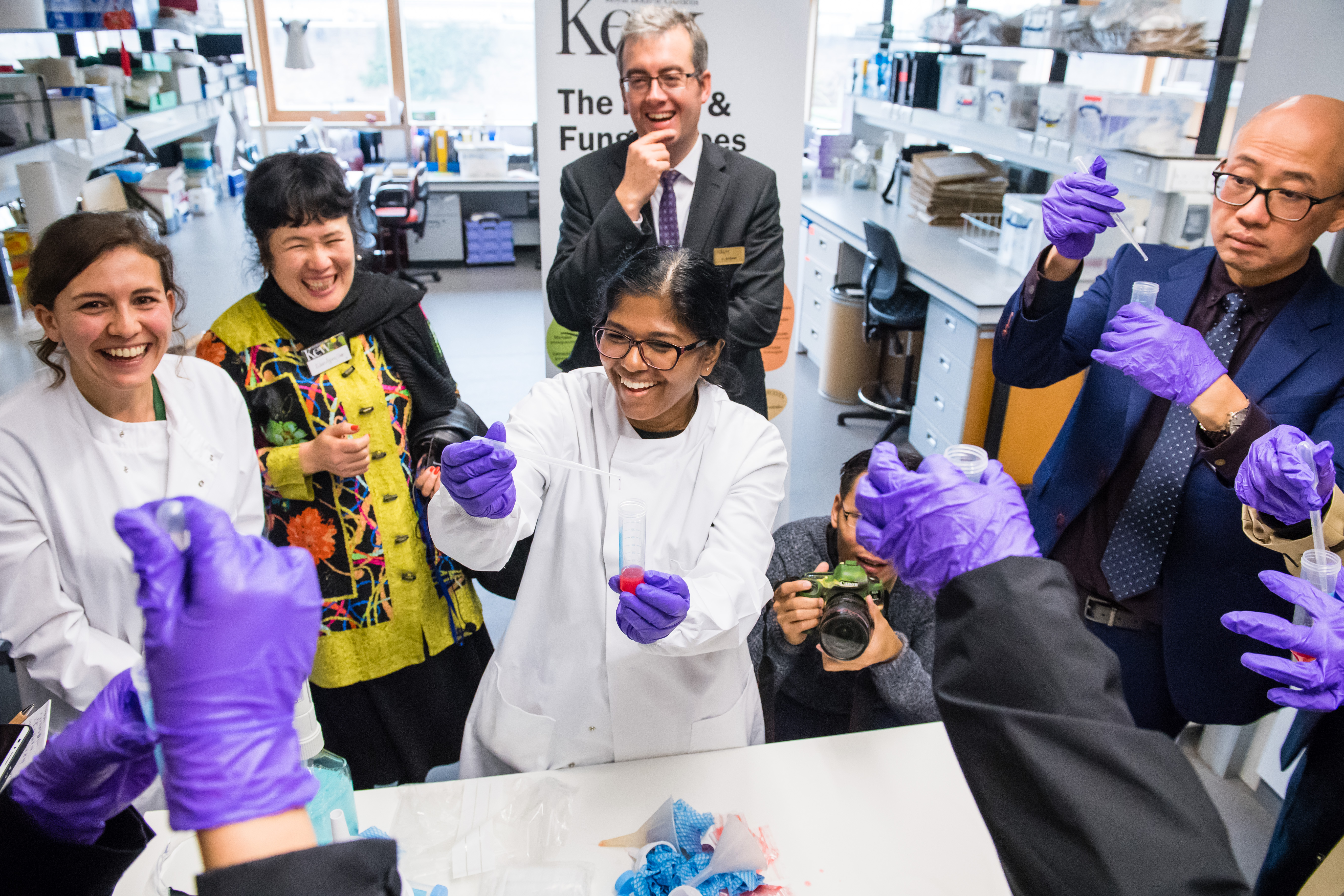 Group of researchers in the lab