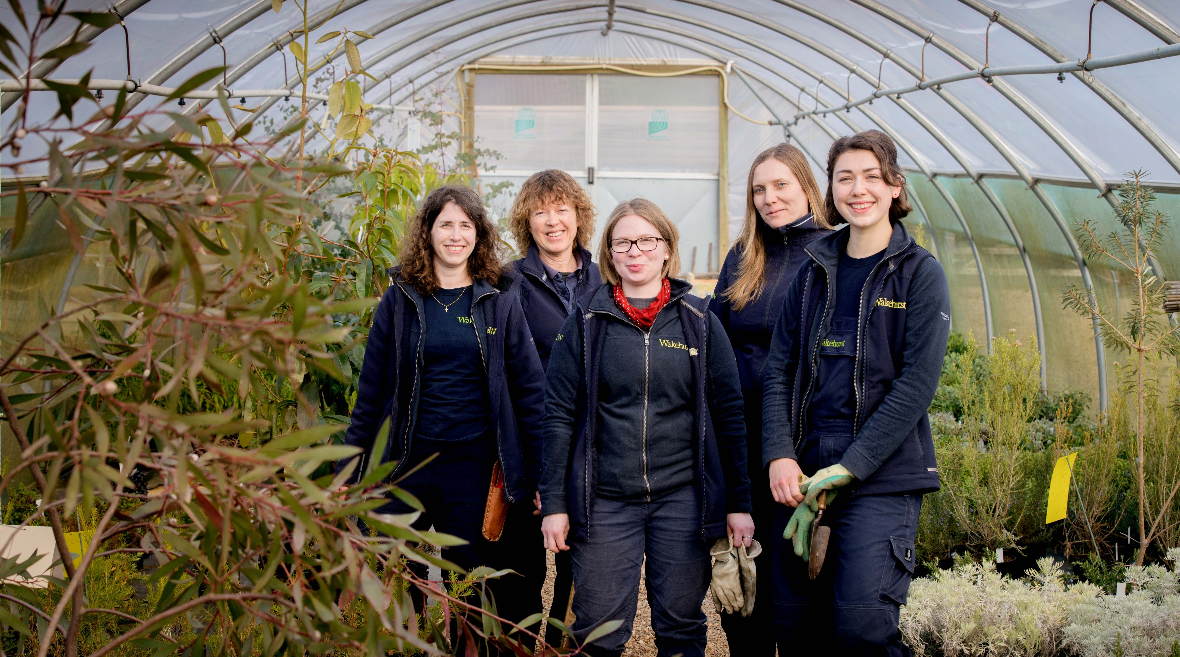 The horticultural staff in the Wakehurst nurseries