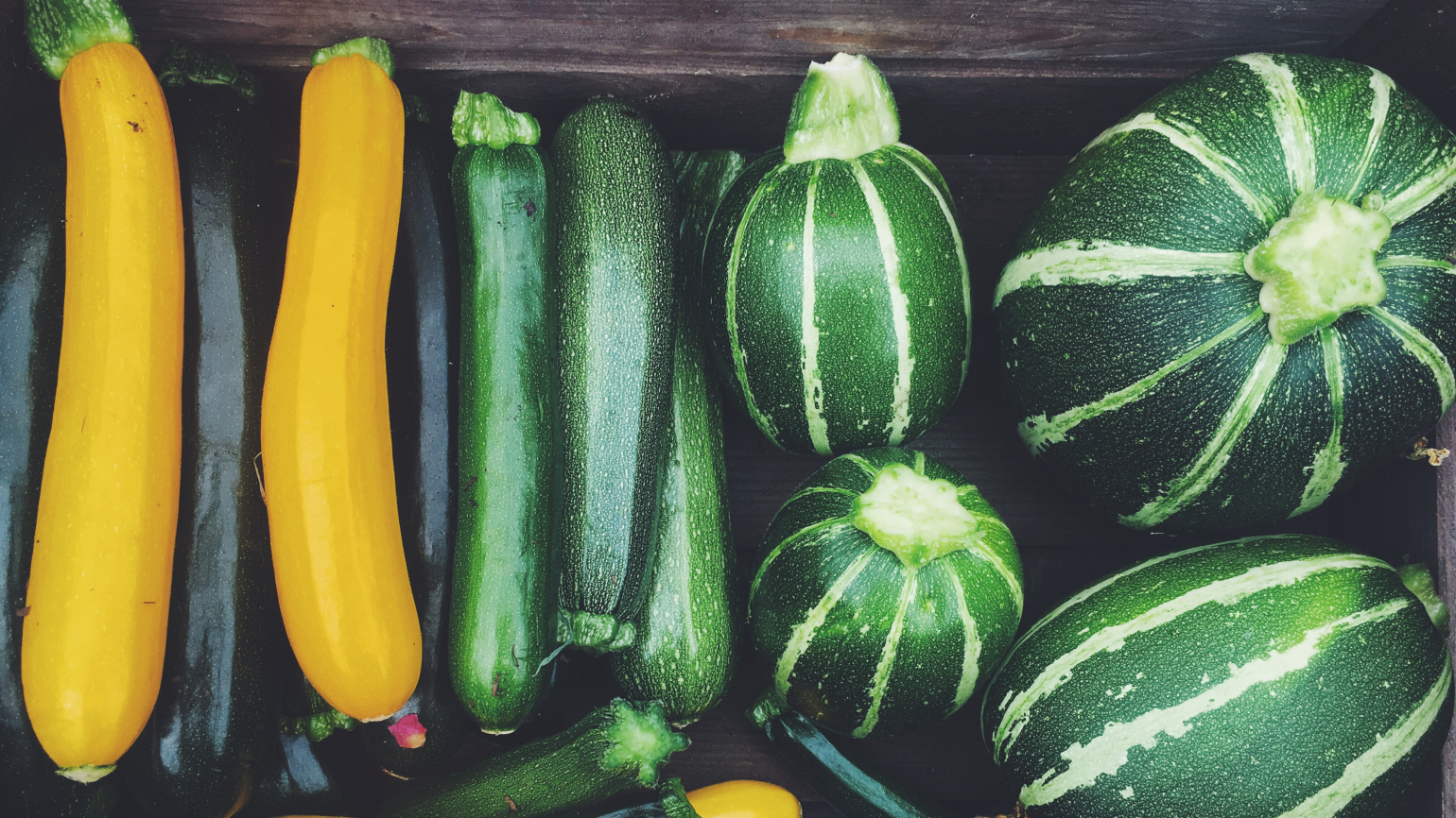 A selection of courgettes