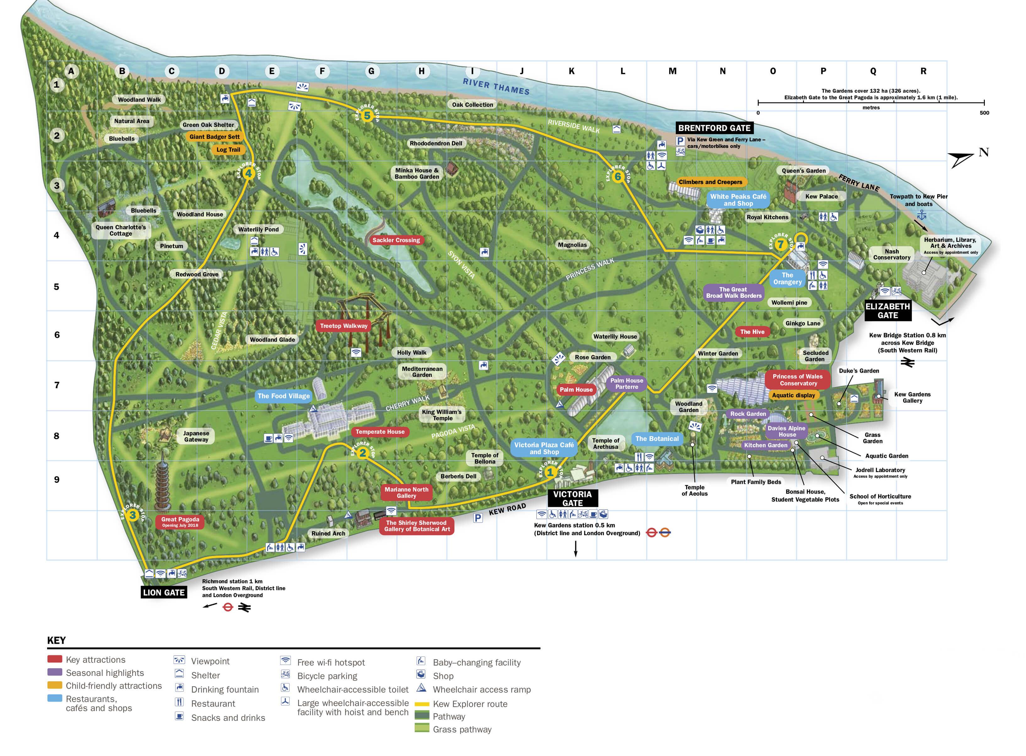 Map Of Kew Gardens Kew