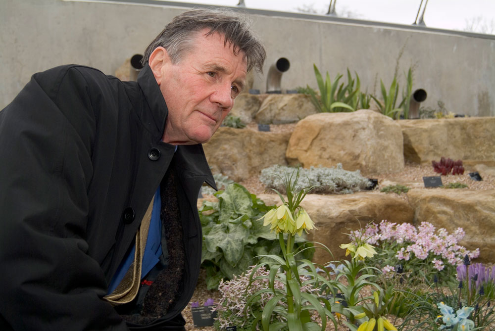 Michael Palin in the Alpine house at Kew