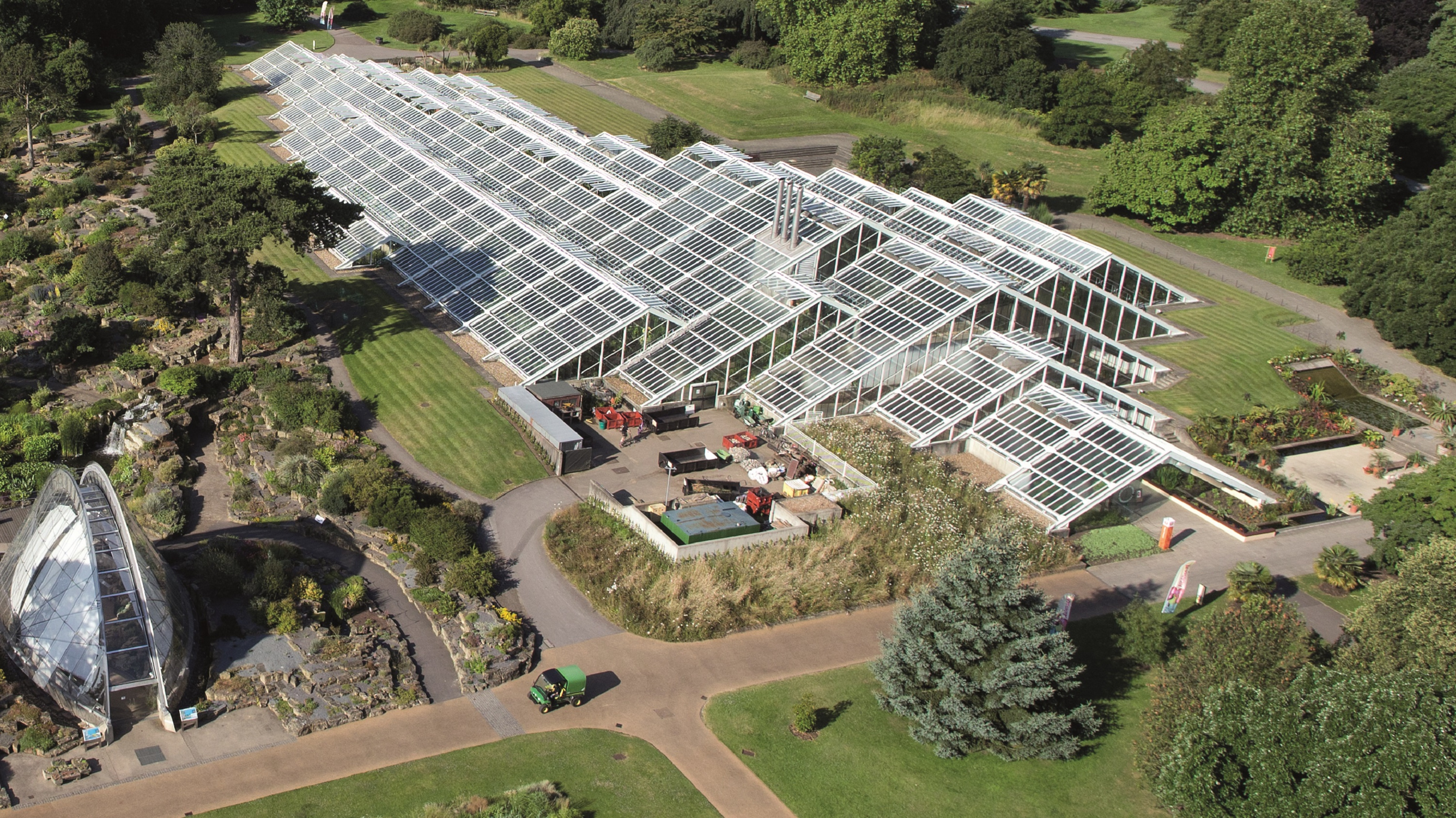 Aerial view of Princess of Wales Conservatory