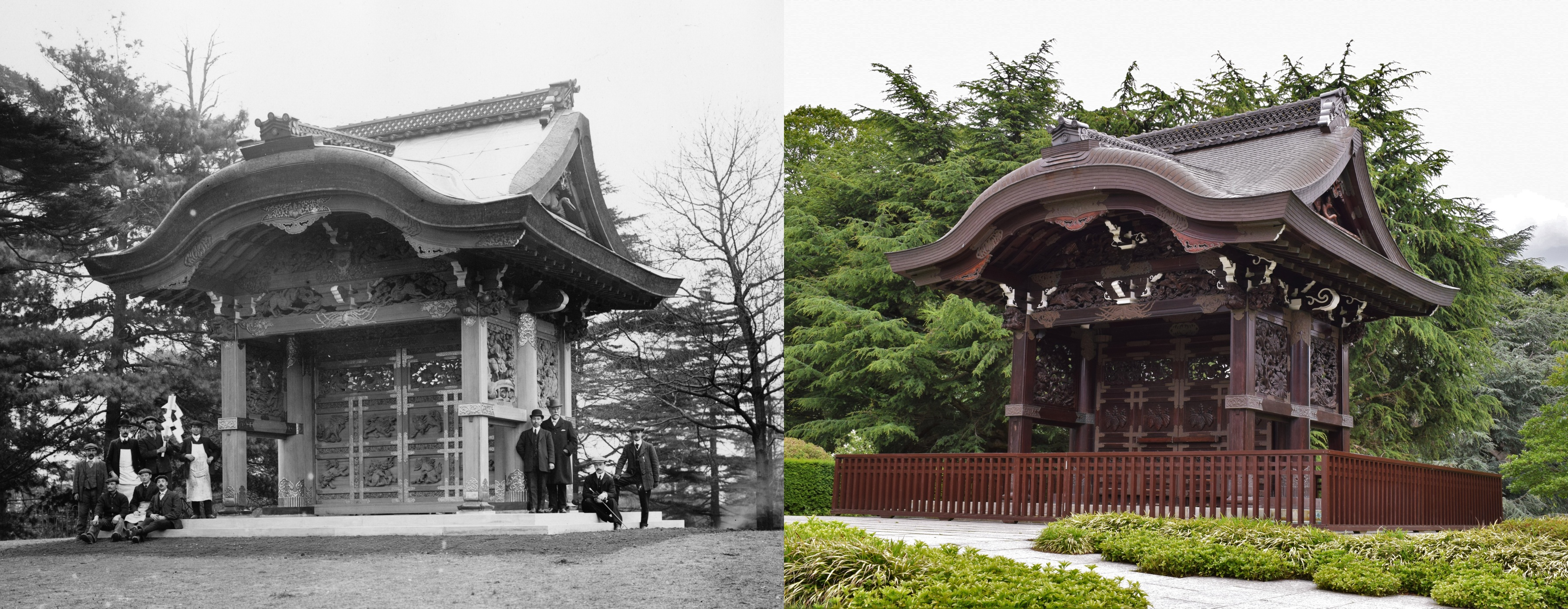 Japanese Gateway then and now