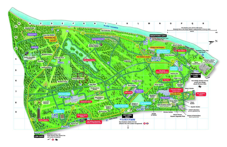 Kew Gardens Map Map of Kew Gardens | Kew