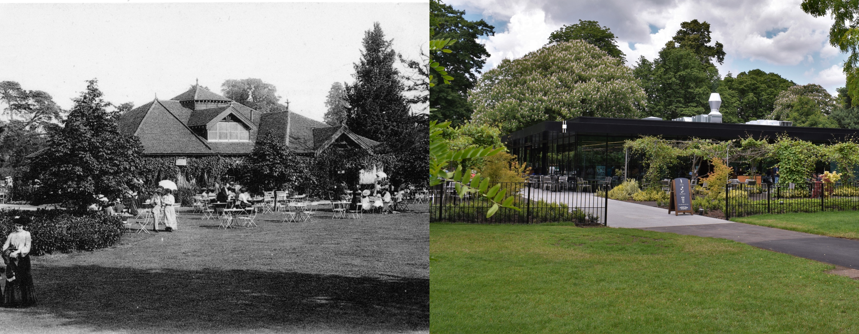 Pavilion then and now