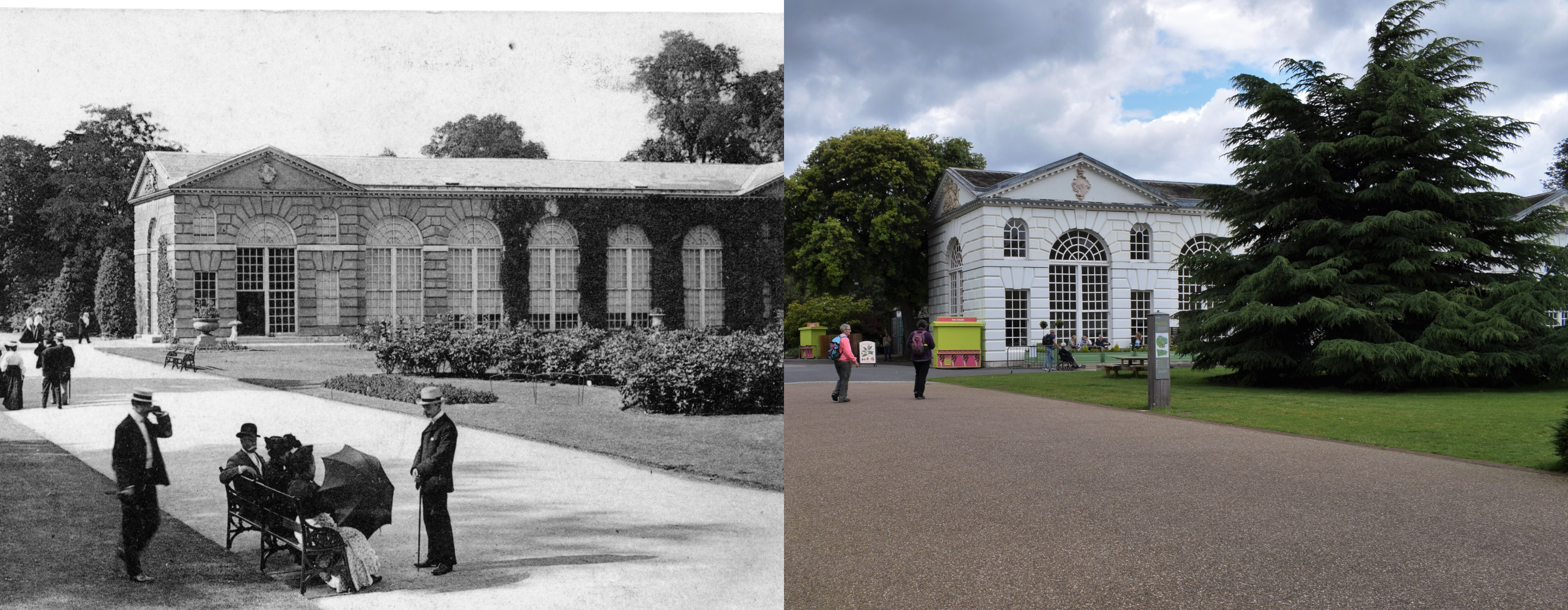 The Orangery then and now
