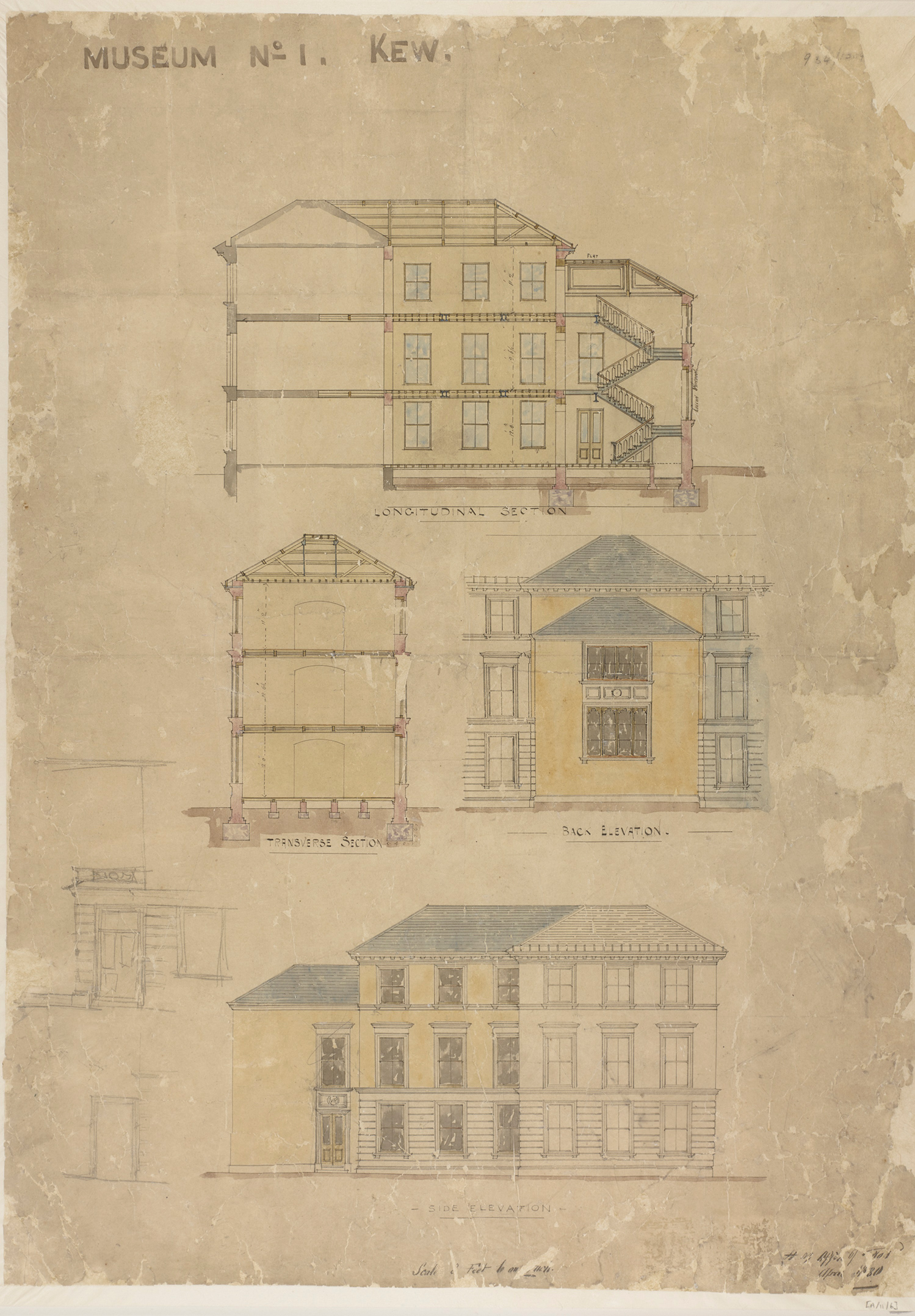 Plan of Museum Number One by HM Office of Works, April 1880