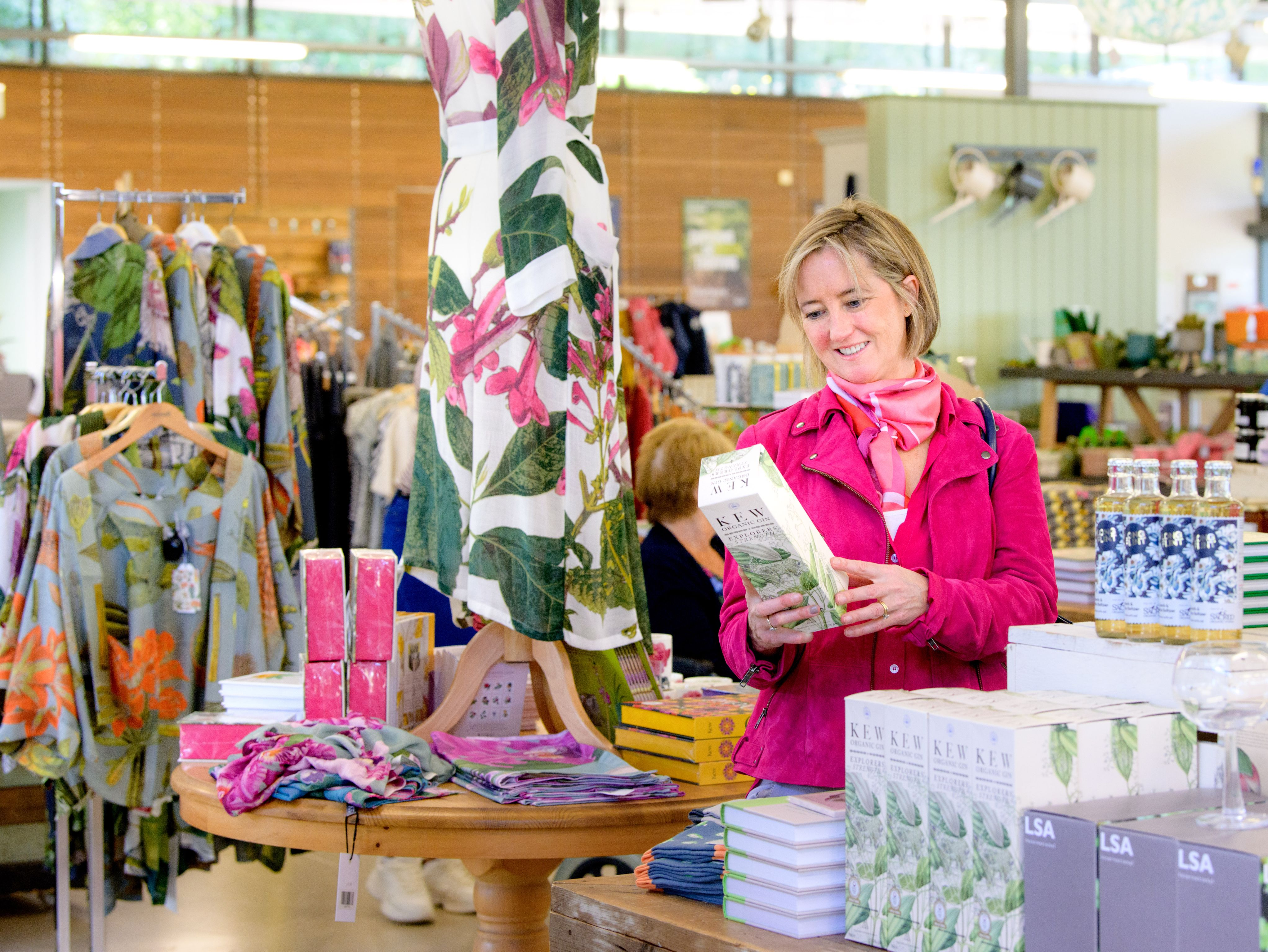 Inside the Wakehurst gift shop