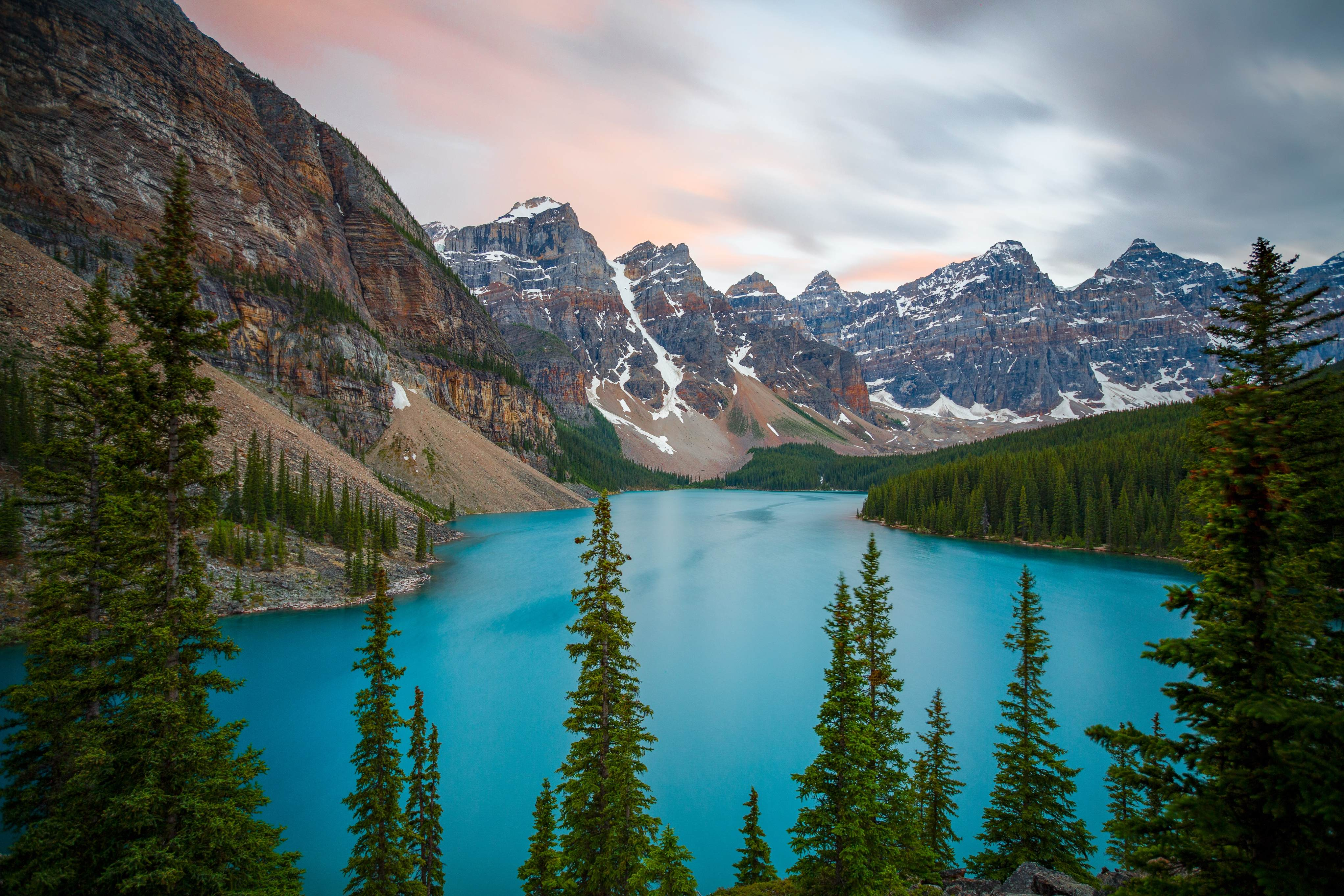 Canadian landscape of mountains and lake