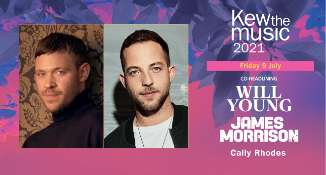 Will Young and James Morrison, Kew the music 2021, 9 July