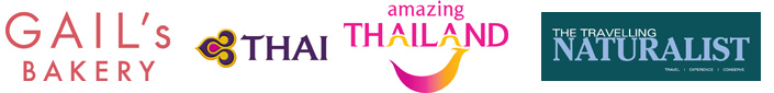 Gails Bakery Thai Airways Amazing Thailand and Travelling Naturalist logos