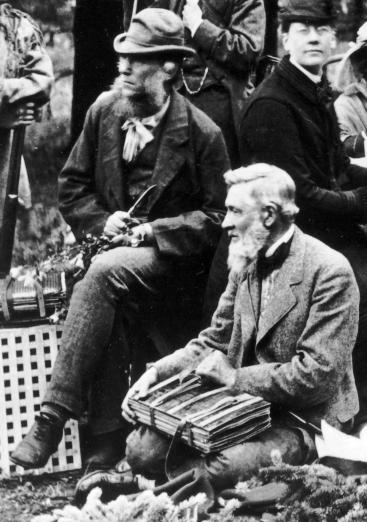 Joseph Hooker (left) and Asa Gray (right) on an expedition in the Rocky Mountains,1877, Hooker aged 60.