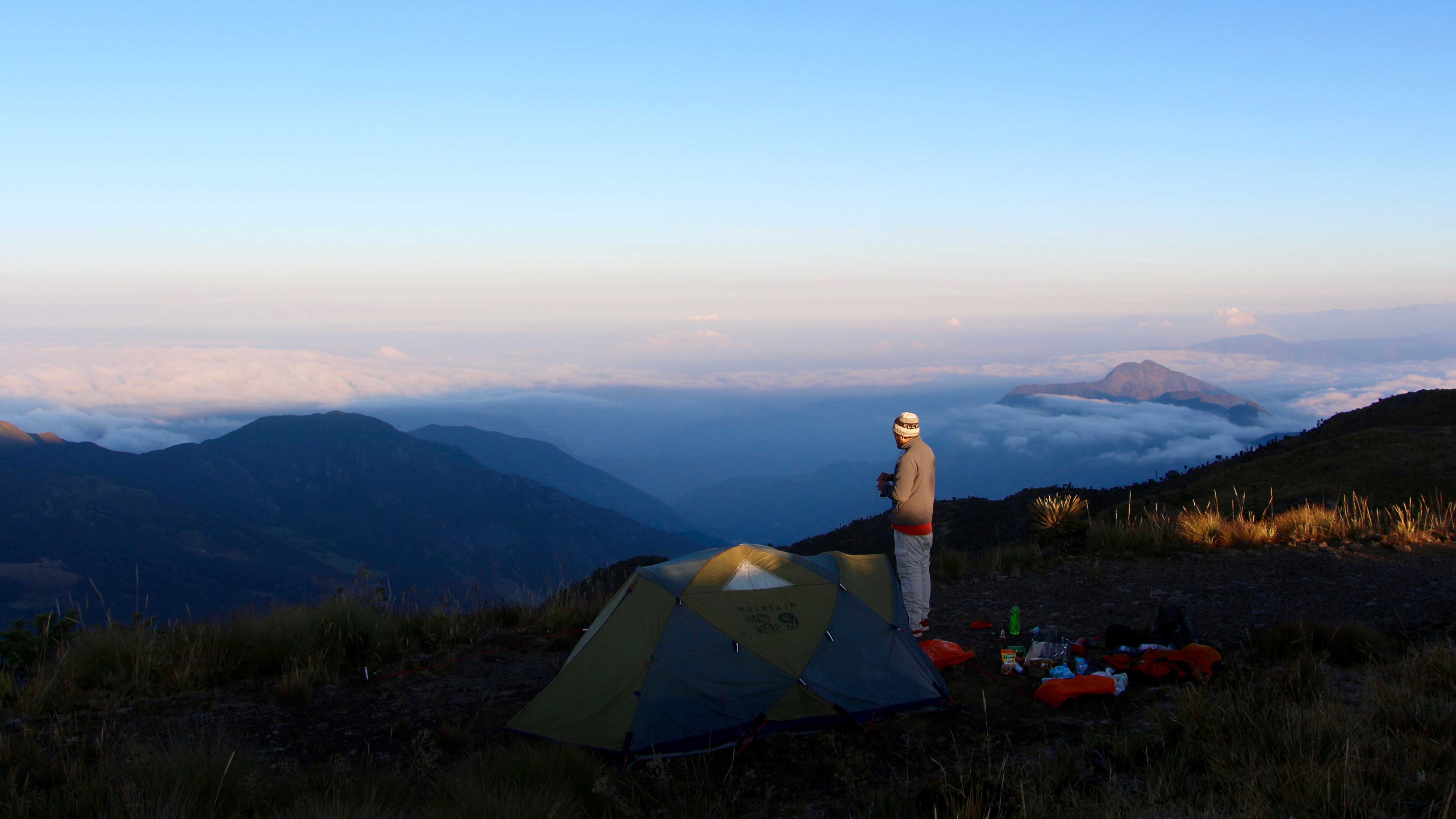 Image showing Mauricio Camping in the mountains between Cocuy and Chita in Boyacá, in February 2017