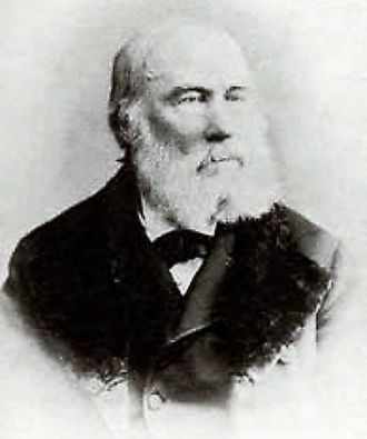 Photo of a portrait of Walter Hood Fitch – prolific botanical artist (1817-1892).