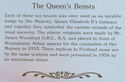 The Queen's Beasts plaque