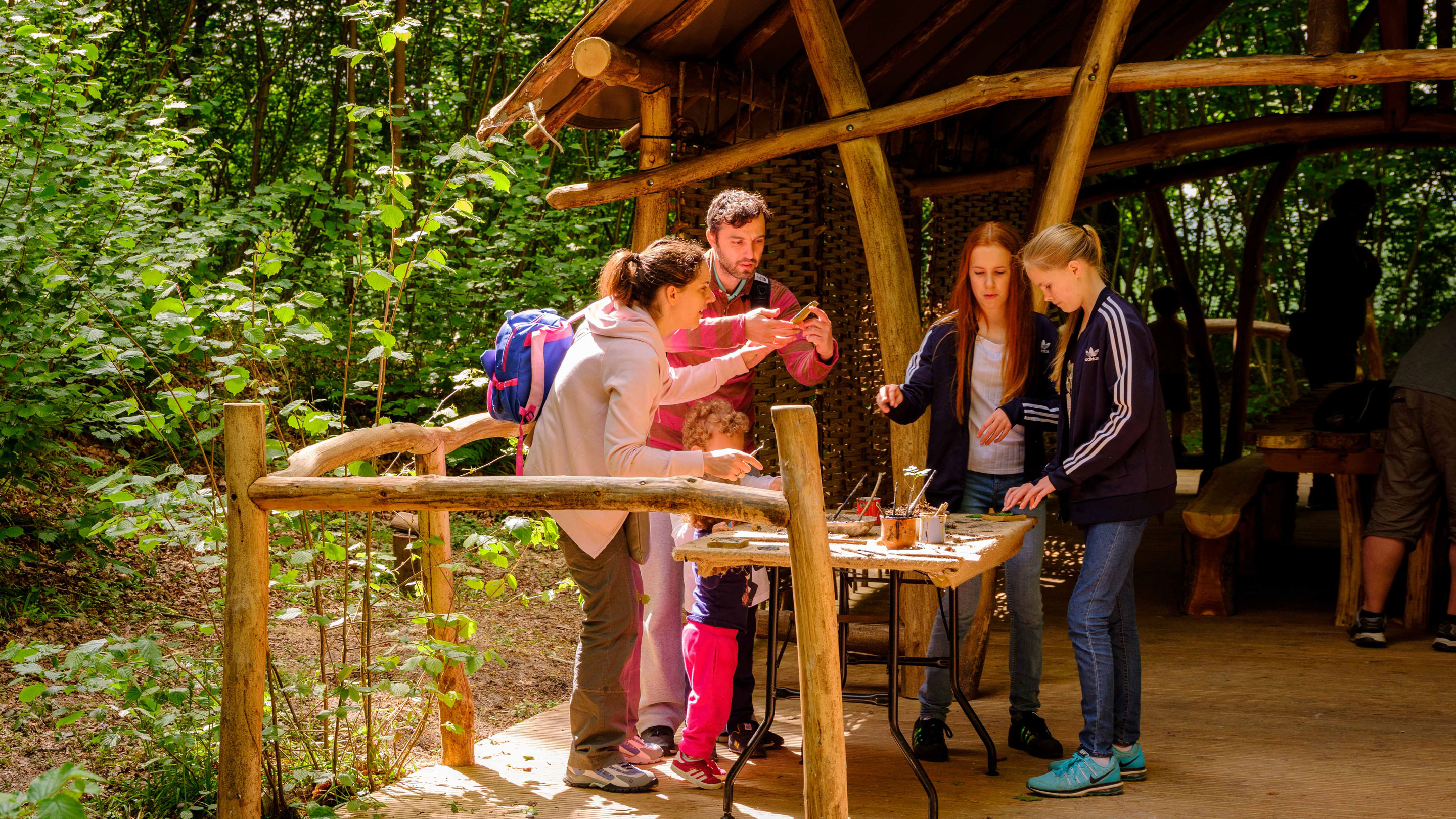 Crafts in the woods at Wakehurst
