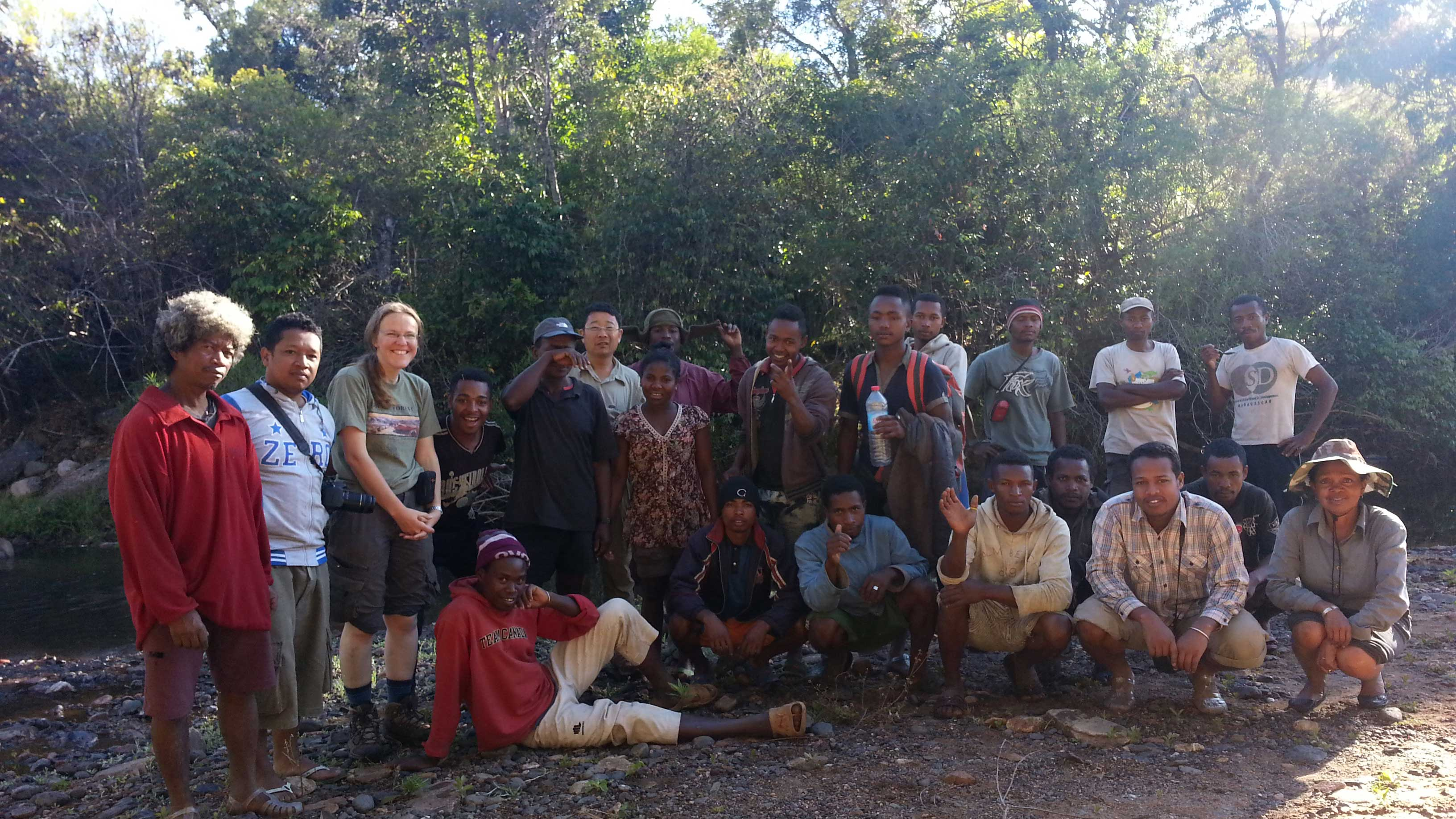 Image showing Tsaratanana bamboo team: 13 porters, 7 botanists, 2 guides, 1 Head Porter, and 1 cook
