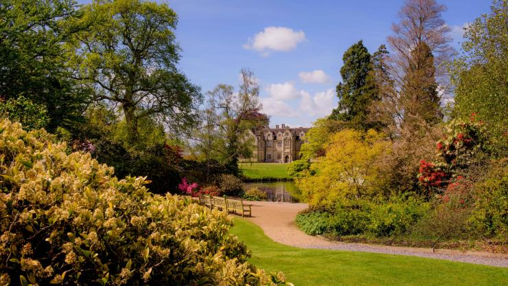 A view of the Mansion in spring at Wakehurst