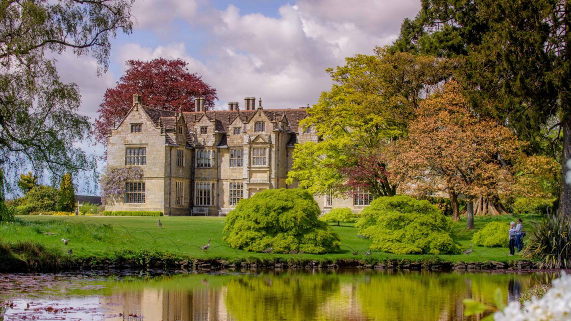 Wakehurst mansion pond