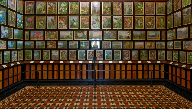 Inside the Marianne North Gallery at Kew