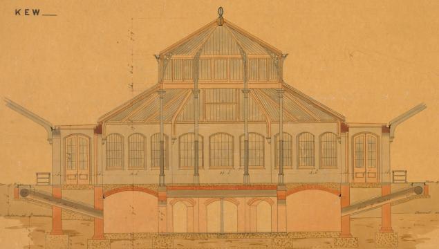 Longitudinal plan of Temperate House