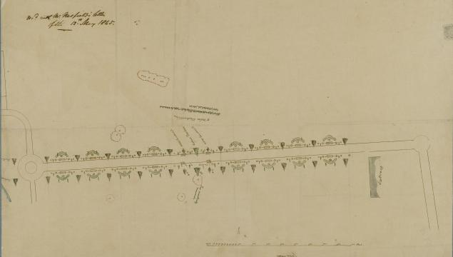 Image of William Nesfield's plan of the Broad Walk