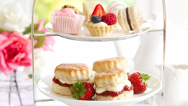 Special afternoon tea with cakes and scones