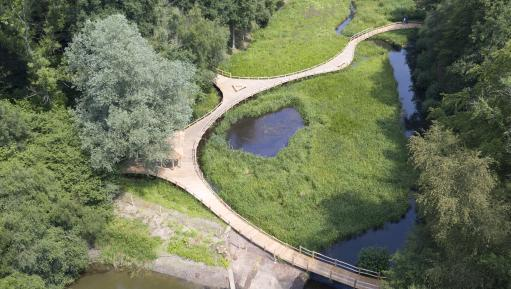 Aerial view of the Wetlands