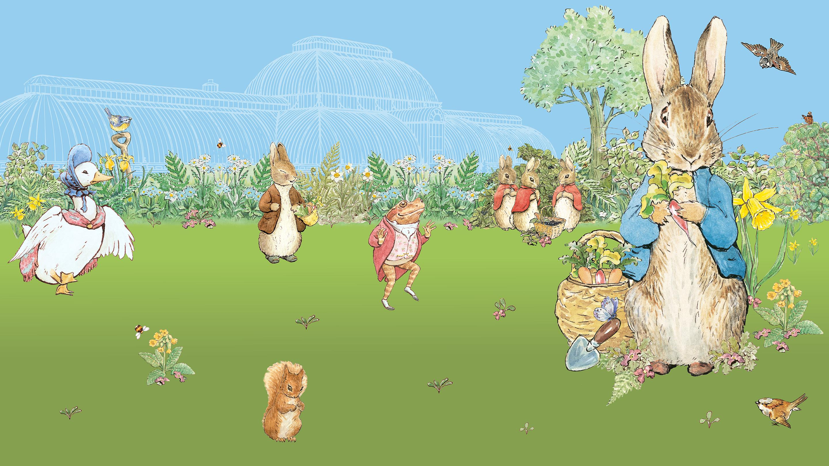 Family fun and garden adventures this Easter - Kew, Peter Rabbit and friends