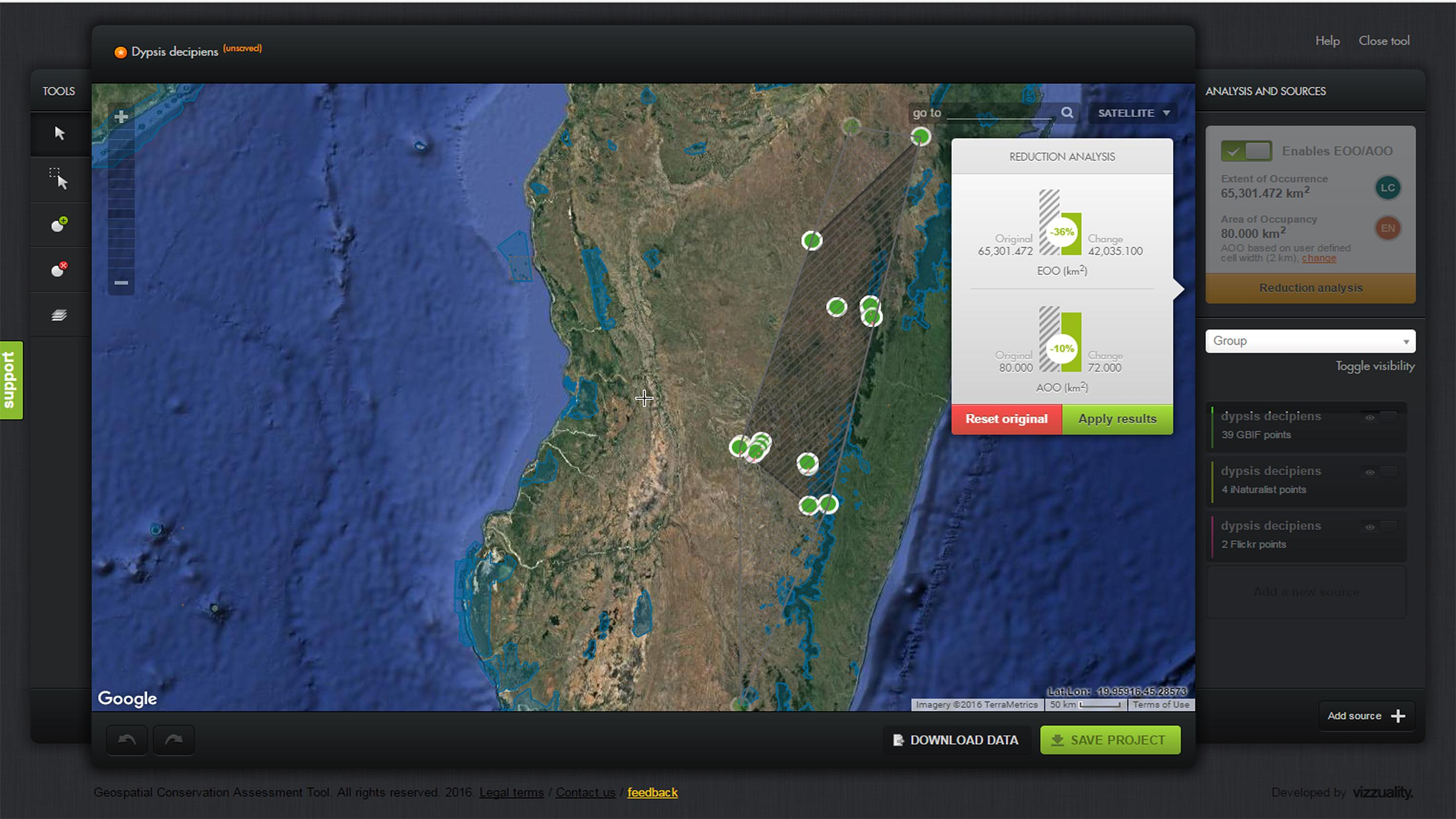 Geospatial Conservation Assessment Tool updated
