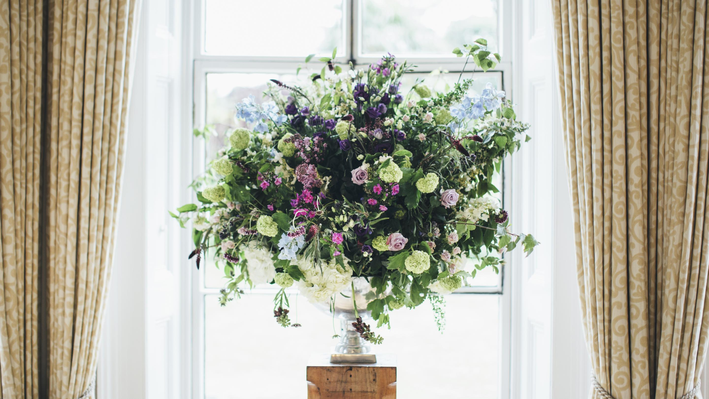 relaxed hermiston pink flowers and pin british garden july blue bridal honey pinterest pot lilac hatton cottage warwick by in bouquet a white