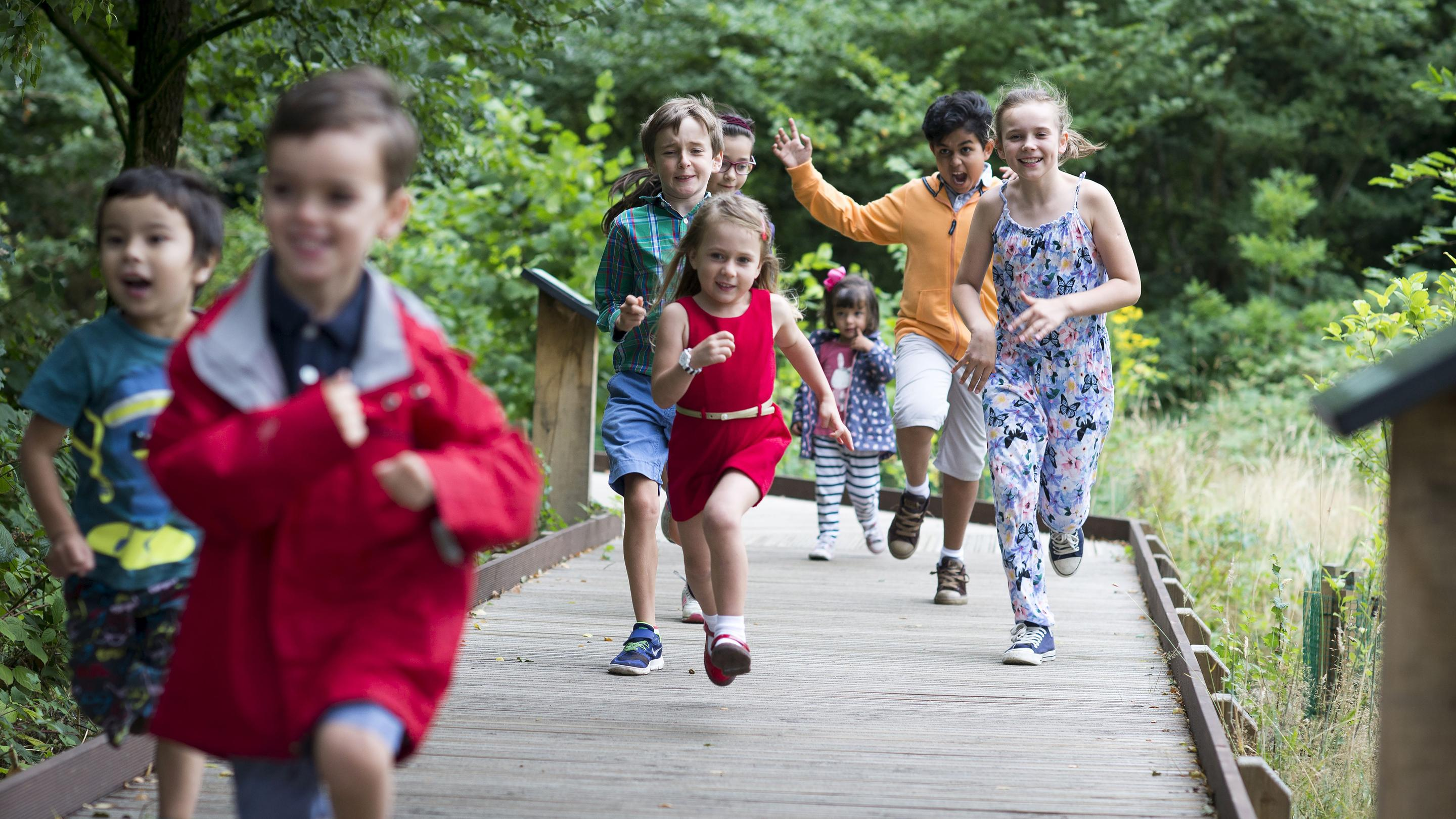 Children playing at Kew Gardens