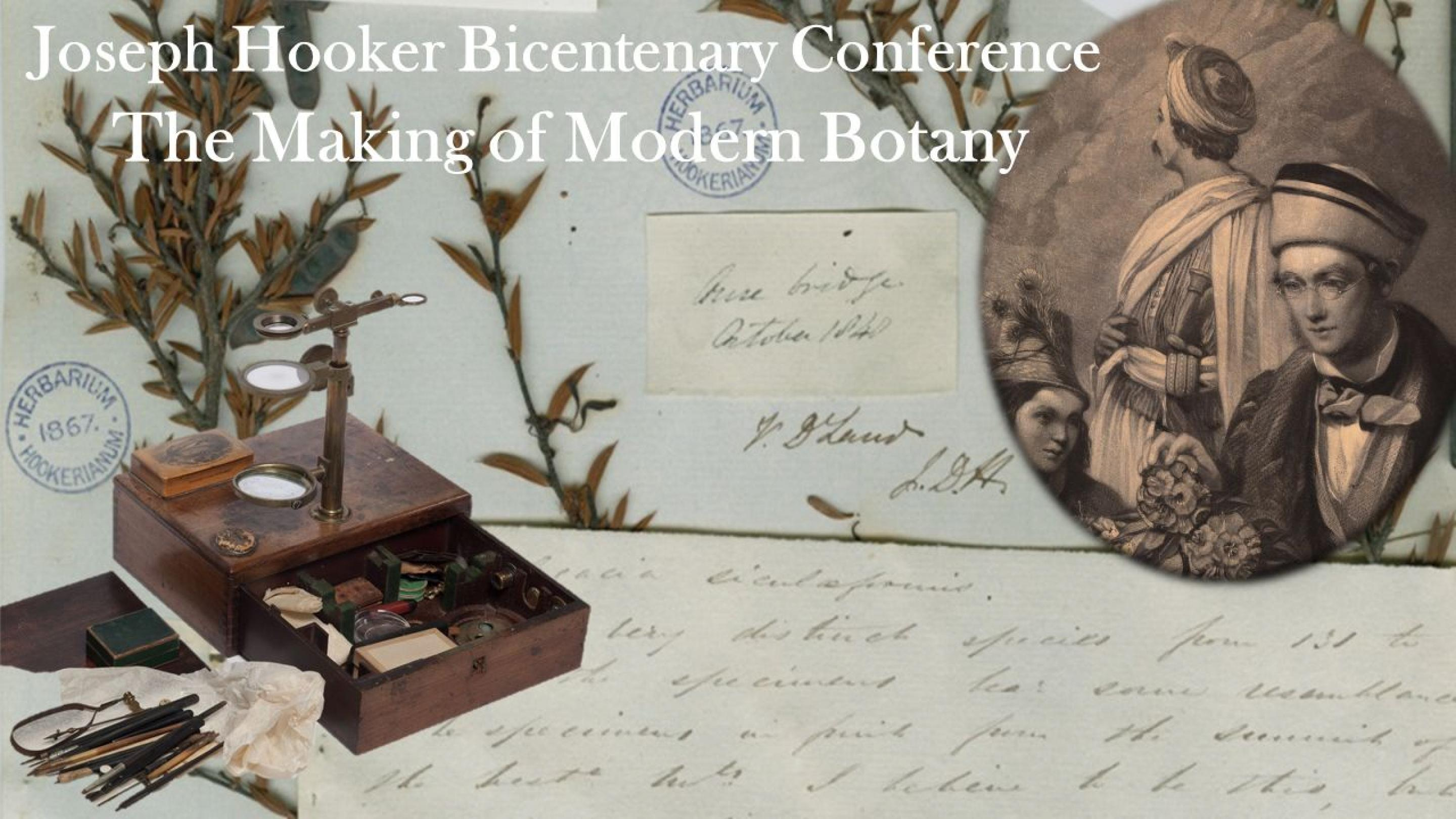 Making of Modern Botany' the Joseph Hooker bicentenary conference poster
