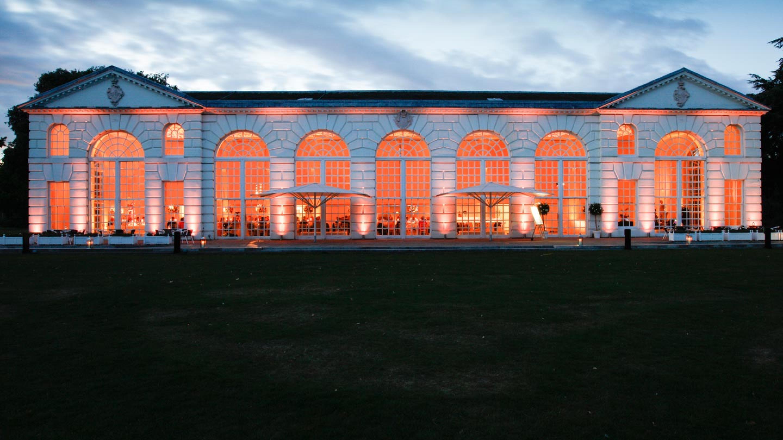 The Orangery Exterior At Night