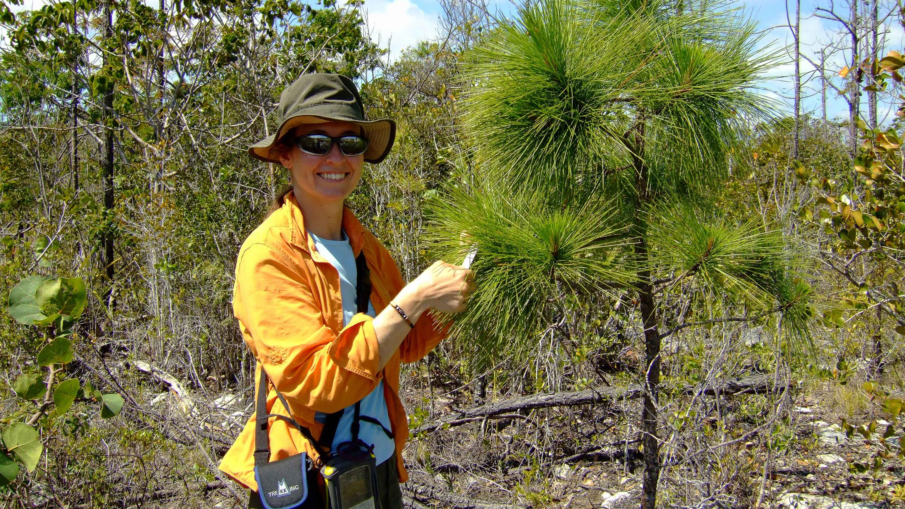 Photo of Michele Sanchez with a Caicos pine