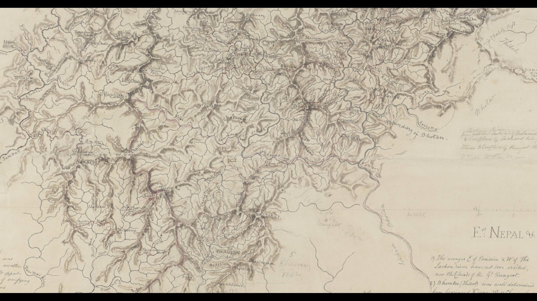 Joseph Hookers Sikkim Map