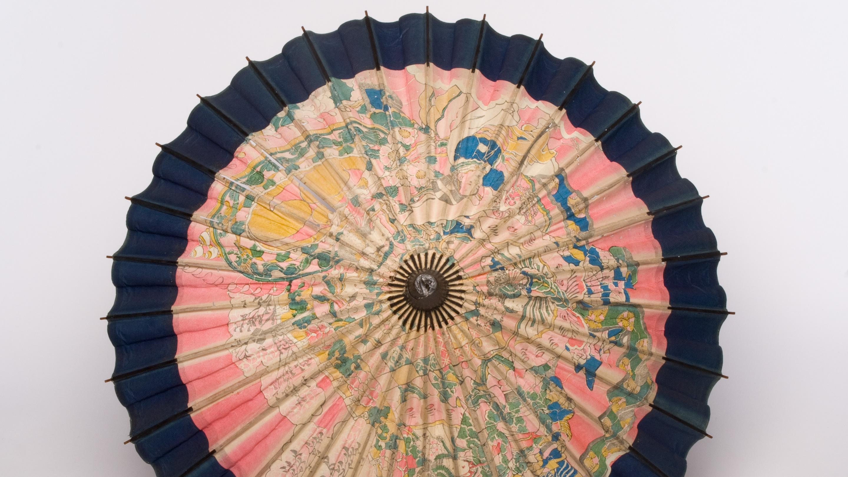 Sun umbrella made from the bark of a species of Broussonetia