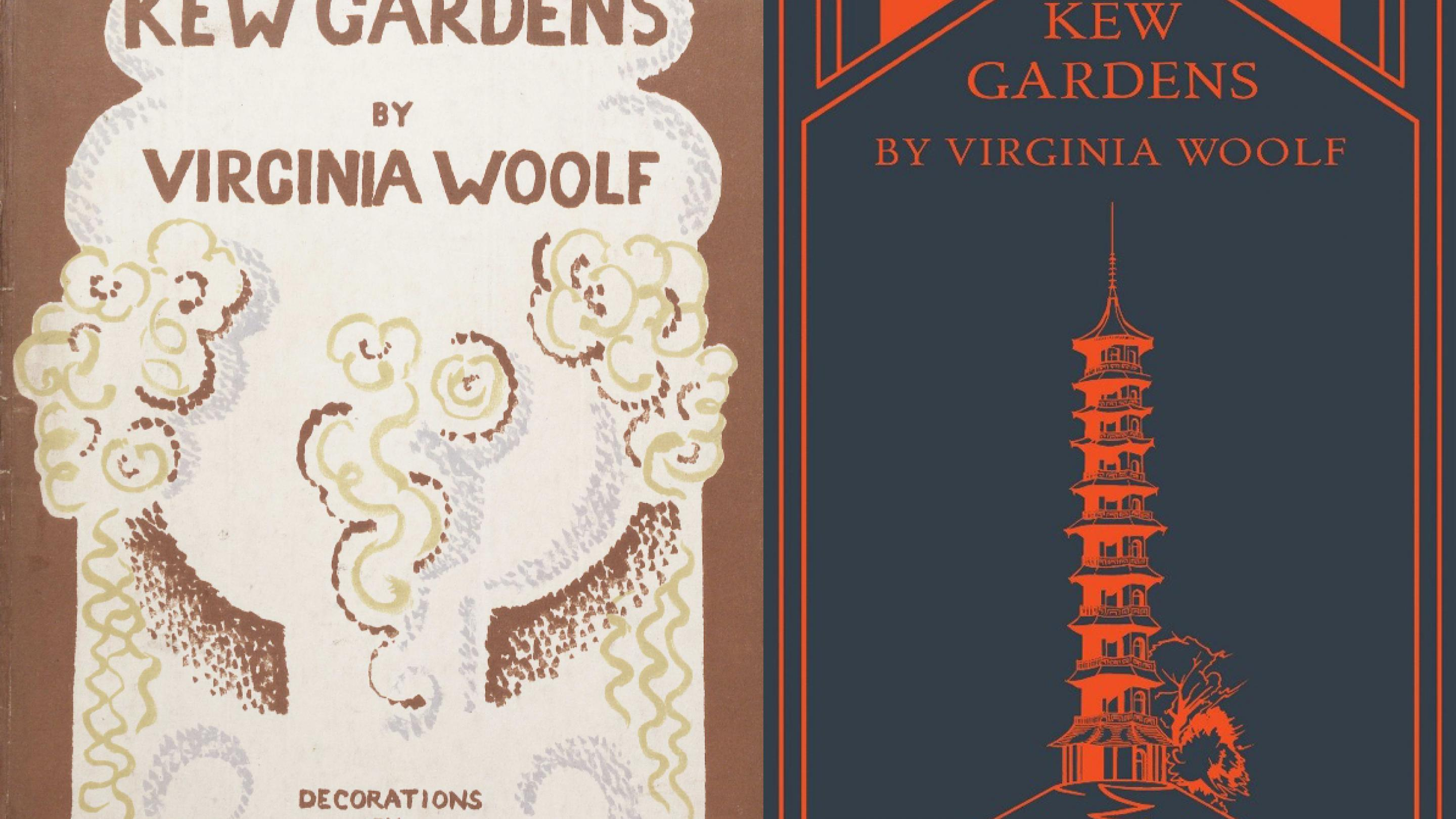 Photo of book covers for Virginia Woolf's Kew Gardens