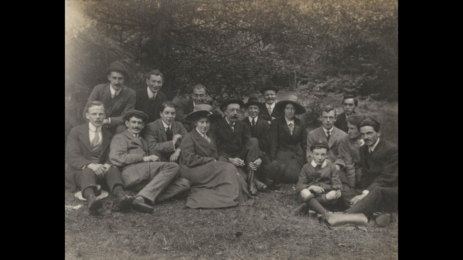 An early Kew fungus foray in Epping Forest with Kew botanists George Massee and Elsie Wakefield, c.1910