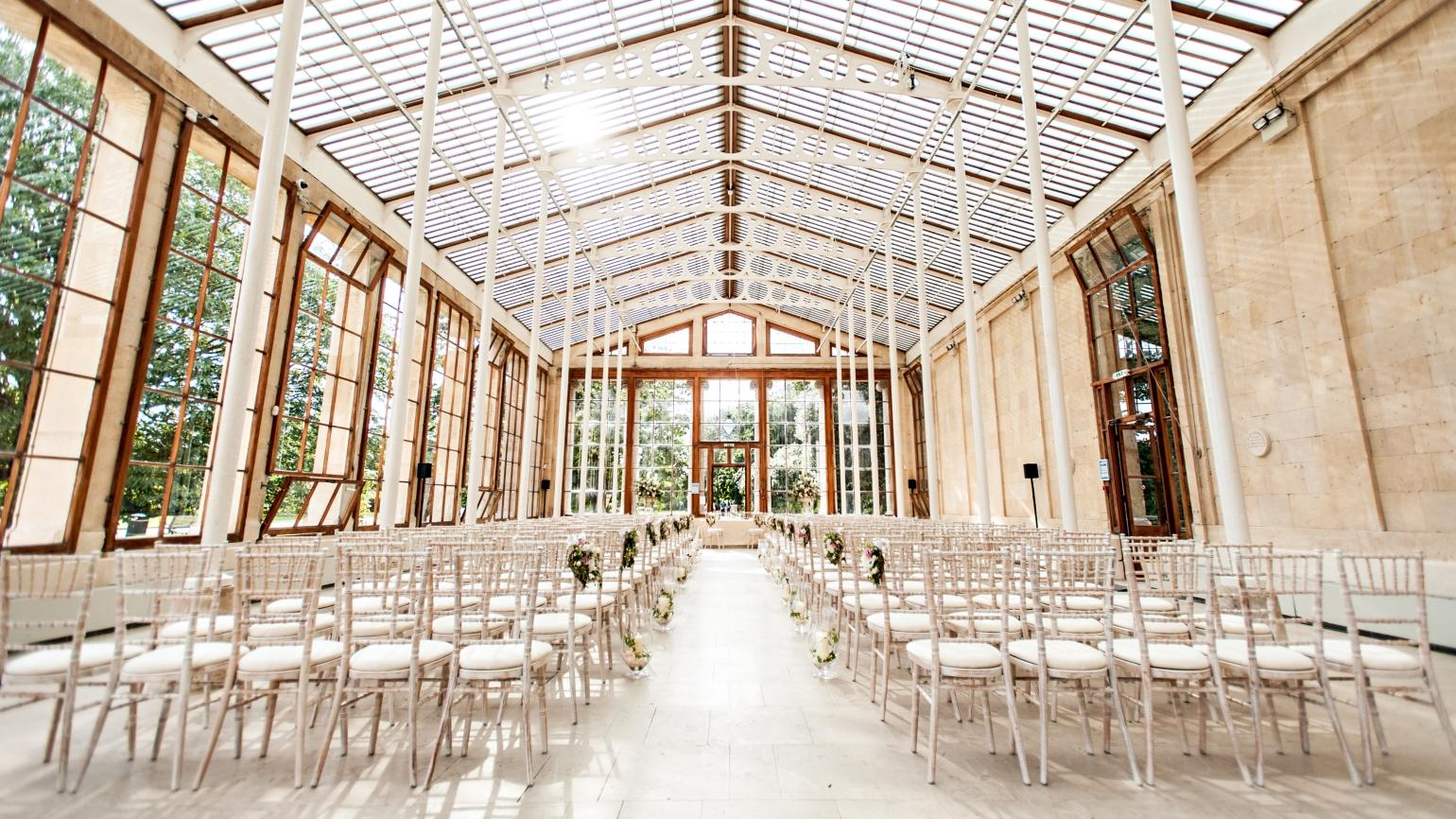 The Nash Conservatory, set for a ceremony