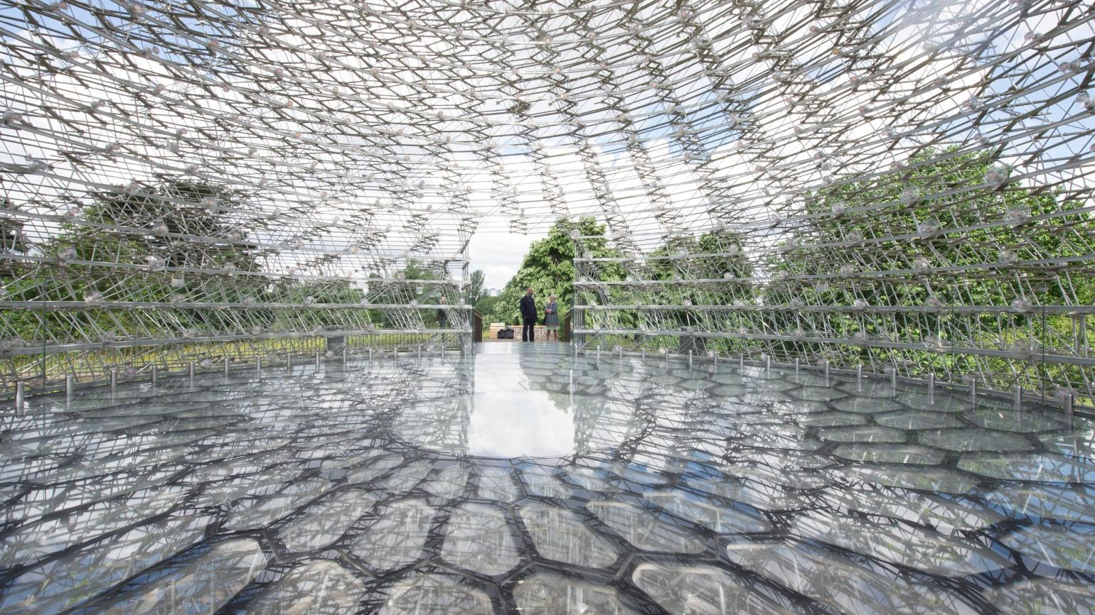 The Hive interior - a larger-than-life recreation of a real beehive at Kew