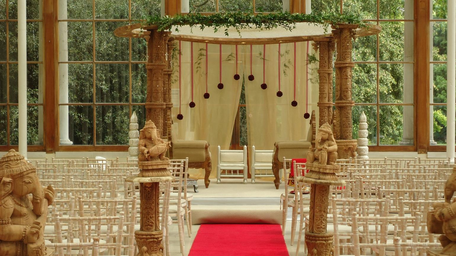 A mandap in the Nash Conservatory