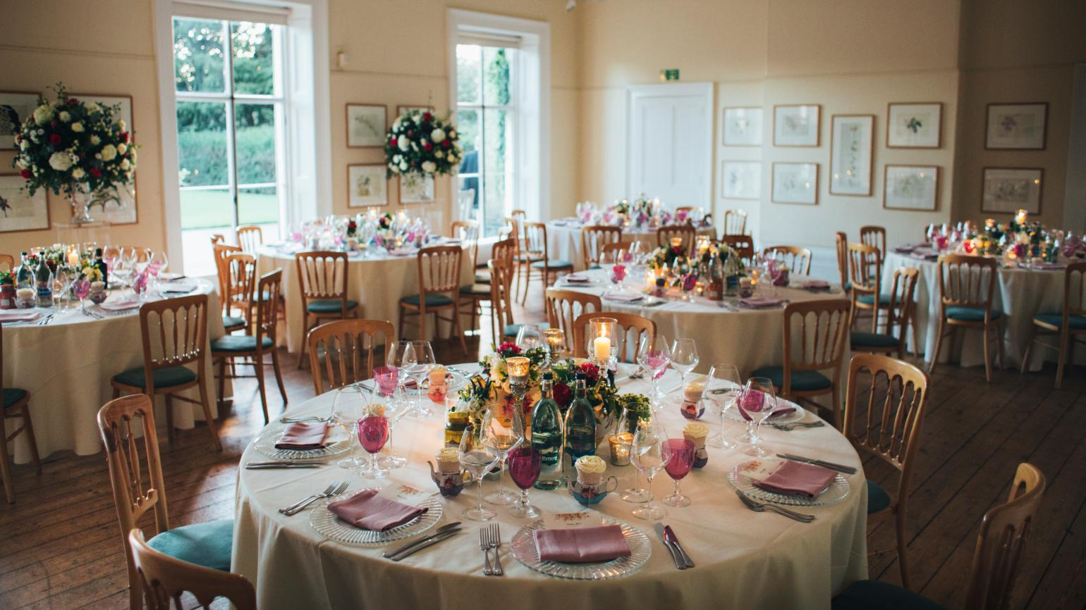 A wedding dinner in Cambridge Cottage
