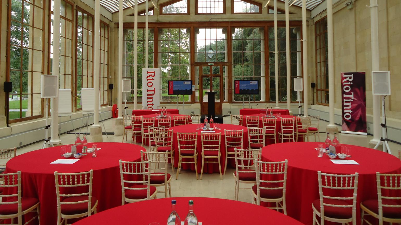 A corporate event in the Nash Conservatory