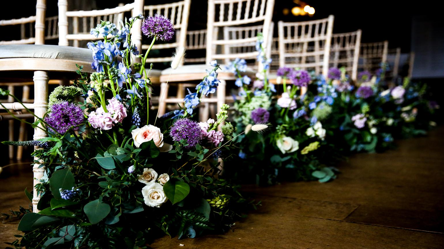 Flower arrangement at a ceremony in the Wakehurst Mansion