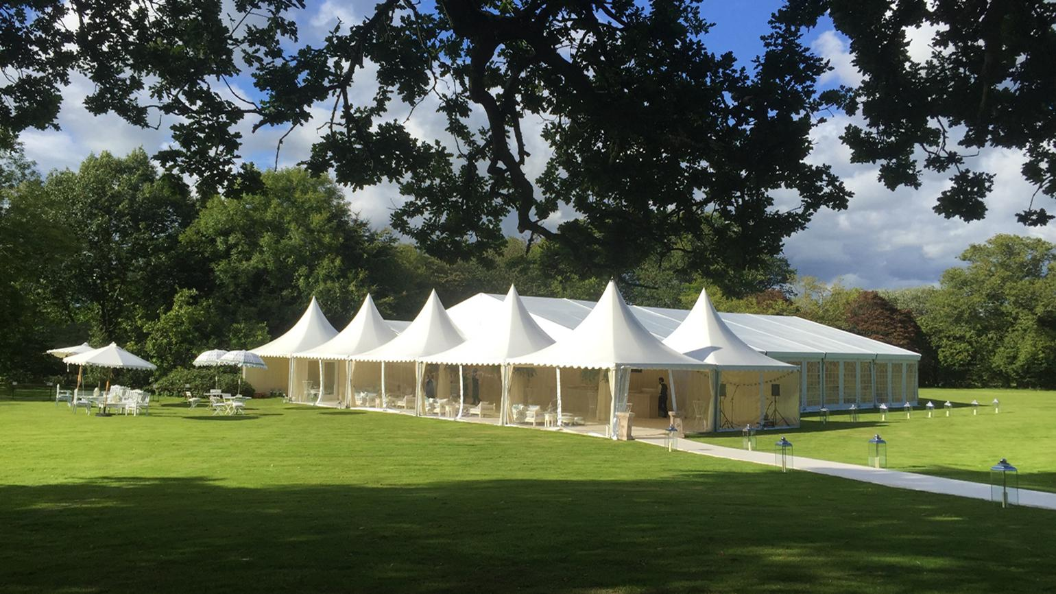 A wedding marquee at Wakehurst