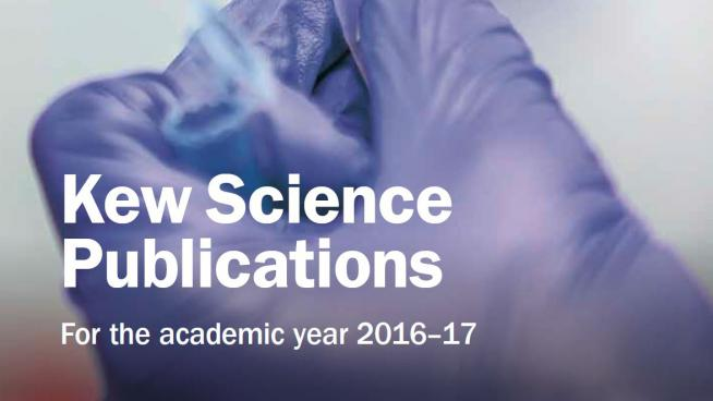 Image showing the cover of Kew Science Publications 2016-17