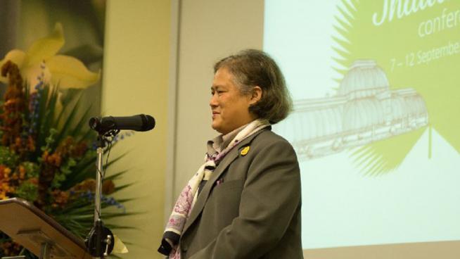 HRH Princess Sirindhorn at the 2014 Flora of Thailand Conference at Kew